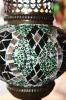 (HM12G) Green Turkish Mosaic Glass Lamp