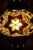(TM12-AS) Small Amber Star Turkish Mosaic Electric Glass Table Lamp