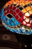(TM14-MW) Large Mixed Wave Turkish Mosaic Electric Glass Table Lamp