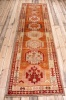 10715 Vintage Kurdish Herki Carpet Runner Rug 94x341cm (3.1 x 11.2ft)