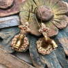 (AE212) Ottoman Design Earrings 45mm x 18mm