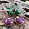 (AE227) Ottoman Design Earrings 60mm x 20mm