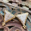 (AE231) Ottoman Design Earrings 75mm x 34mm