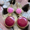 (AE264) Ottoman Design Earrings 55mm x 21mm