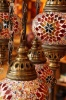 Turkish Flame Seven Lamp Mosaic Chandelier