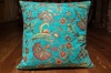 Small Turquoise Ottoman Turkish Cushion Cover 44x44cm