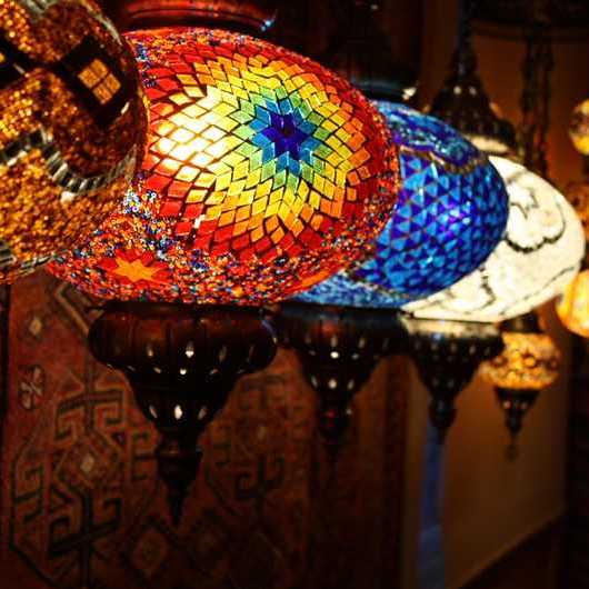 Electric Turkish Mosaic Lamps & Chandeliers