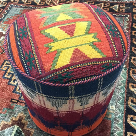 Persian, Turkish & Afghan Kilim Poufs, Stools & Seats