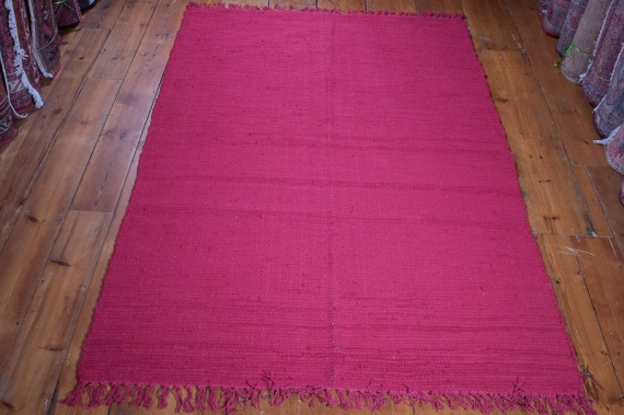 (RR505RED) Red Rag Rug 120x180cm