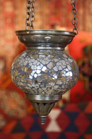 (58CZMIRROR) Mirror Shiny Turkish Mosaic Oriental Glass Lamp