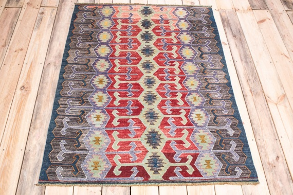 10008 Turkish Esme Vintage Kilim Rug 105x139cm (3.5 x 4.6½ft)
