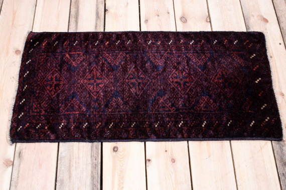 10122 Small Afghan Baluch Rug 42x86cm (1.4½ x 2.10ft)