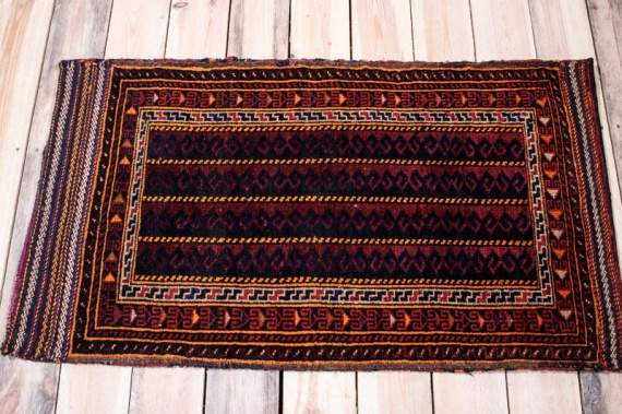 10190 Afghan Baluch Floor Cushion 63x111cm (2.0½ x 3.7½ft)