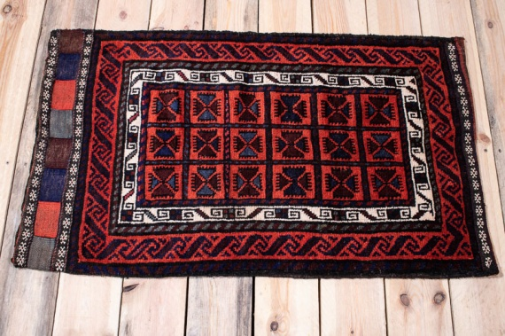 10191 Afghan Baluch Floor Cushion 58x98cm (1.11 x 3.2½ft)