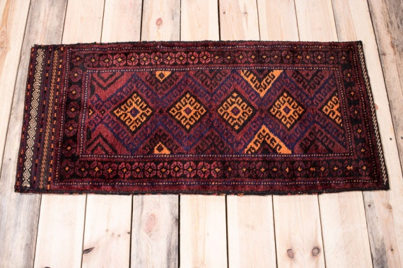 10193 Afghan Baluch Floor Cushion 50x108cm (1.7½ x 3.6½ft)