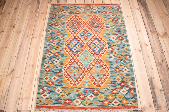 10388 Afghan Vegetable Dyed Kilim Rug 99x148cm (3.3 x 4.10ft)