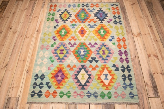 10390 Afghan Vegetable Dyed Kilim Rug 125x172cm (4.1 x 5.7½ft)