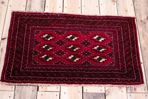 10496 Small Afghan Baluch Rug 52x86cm (1.8½ x 2.10ft)