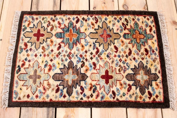 10877 Fine Afghan Ziegler Small Rug 43x62cm (1.5 x 2.0½ft)