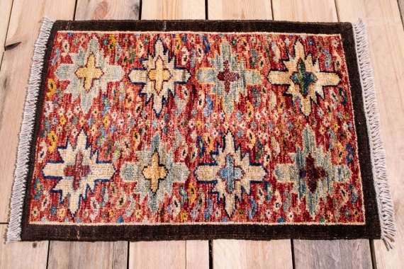 10883 Fine Afghan Ziegler Small Rug 42x60cm (1.4½ x 1.11½ft)