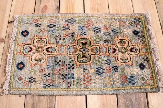 10884 Fine Afghan Ziegler Small Rug 41x66cm (1.4 x 2.2ft)
