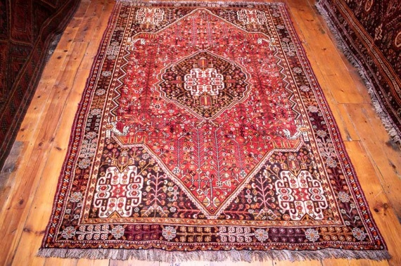 4819 Persian Qashqai Farashband Carpet 160x243cm (5.3 x 7.11½ft)