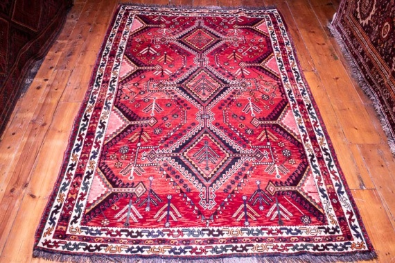 4864 Persian Lory Qashqai Carpet 154x252cm (5.0½ x 8.3ft)