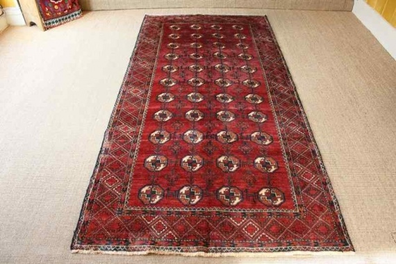 6105 Persian Mashad Baluch Carpet 117x244cm (3.10 x 8ft)