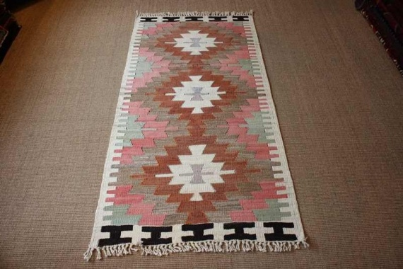6302 Turkish Mut Kilim 78x148cm (2.6½ x 4.10ft)