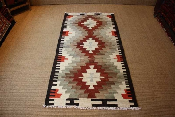 6305 Turkish Mut Kilim 83x163cm (2.8½ x 5.4ft)