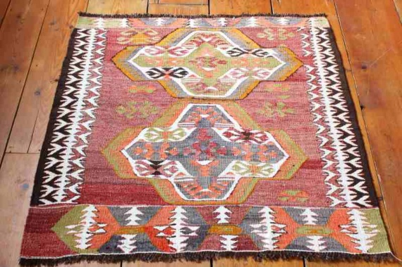 7807 Turkish Mut Kilim Rug 92x91cm (3 x 2.11½ft)