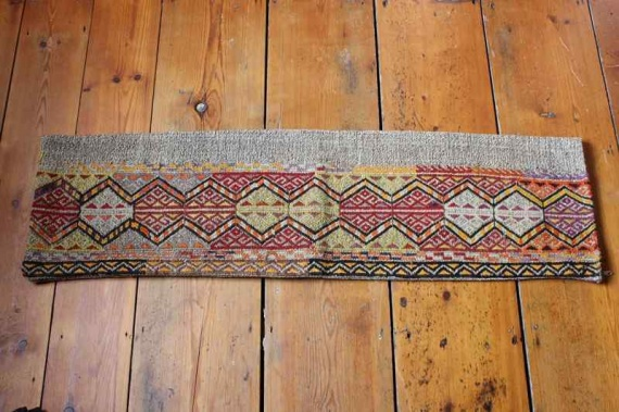 7838 Turkish Long Bolster Kilim Cushion Cover 29x104cm