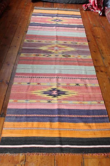 7870 Turkish Acipayam Kilim Runner Rug 95x295cm (3.1½ x 9.8ft)