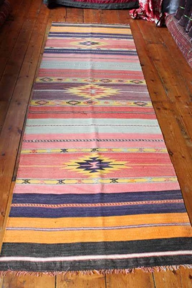 7871 Turkish Acipayam Kilim Runner Rug 96x292cm (3.1½ x 9.7ft)