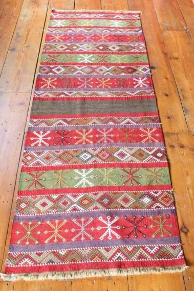 7899 Turkish Sivas Kilim Runner Rug 73x208cm (2.4½ x 6.9½ft)