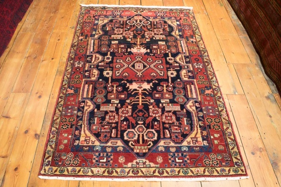 8332 Persian Borujerd Rug 118x178cm (3.10½ x 5.10ft)