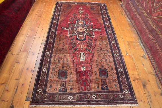 8438 Persian Mashad Baluch Carpet 121x259cm (3.11½ x 8.6ft)