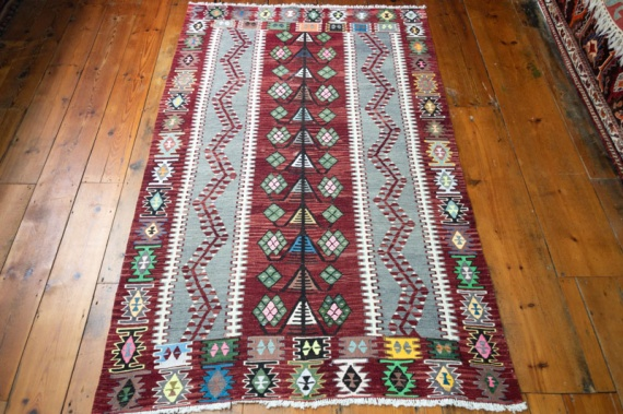 9065 Turkish Kilim Rug - Esme 109x182cm (3.7 x 5.11½ft)