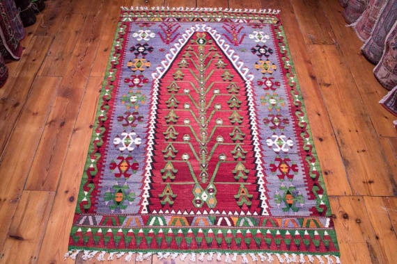 9069 Turkish Kilim Rug - Esme 106x166cm (3.5½ x 5.5½ft)
