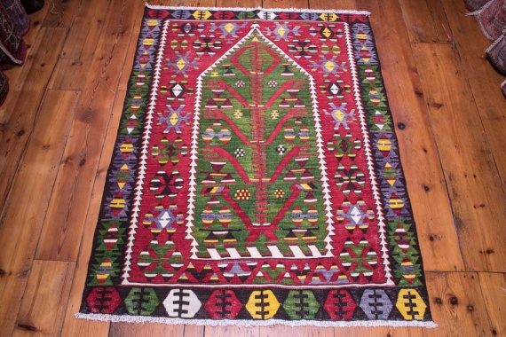 9070 Turkish Kilim Rug - Esme 108x141cm (3.6½ x 4.7½ft)