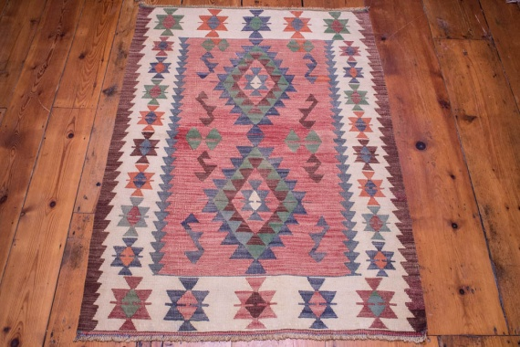 9092 Turkish Kilim Rug - Usak 87x123cm (2.10 x 4.0½ft)