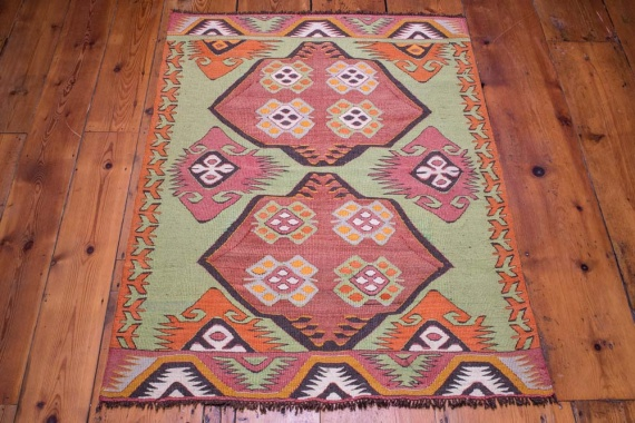 9096 Vintage Turkish Kilim Rug - Mut 90x119cm (2.11½ x 3.11ft)