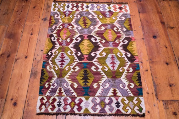 9100 Vintage Turkish Kilim Rug - Mut 75x113cm (2.5½ x 3.8½ft)