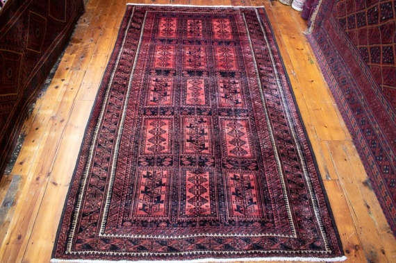 9601 Tribal Persian Baluch Rug 158½x281cm (5.2½ x 9.2½ft)