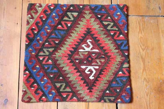 KC1257 Turkish Kilim Cushion Cover 40x40cm