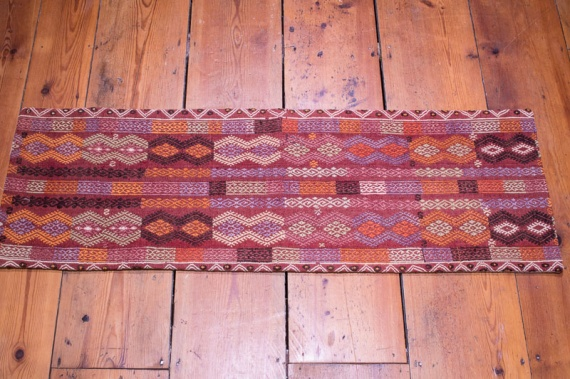 KC1344 Turkish Long Kilim Bolster Cushion Cover 38x116cm