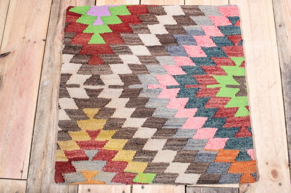 KC1537 Turkish Kilim Cushion Cover 50x50cm