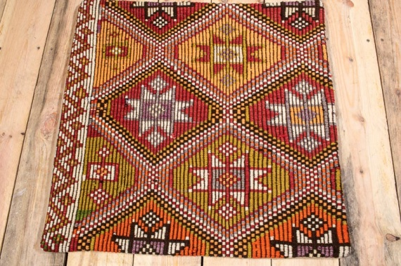 KC1552 Turkish Kilim Cushion Cover 60x60cm