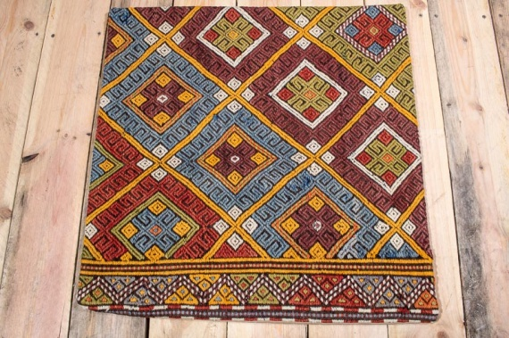KC1557 Turkish Kilim Cushion Cover 60x60cm