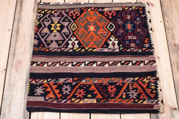 KC1582 Turkish Kilim Cushion Cover 60x60cm